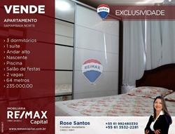 Apartamento à venda QN 404   Residencial Monte Carlo 03 quartos com suíte 64m