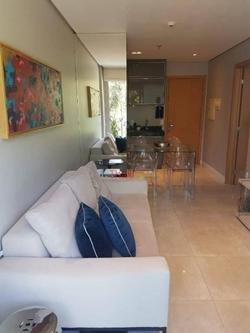 Apartamento à venda SCES Trecho 4   Apartamento com 01 quartos, sala, cozinha e banheiro social no Lake View Resort à venda - Brasília/D
