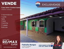 Casa à venda Quadra 7   Casa com 3 dormitórios à venda, 170 m² por R$ 380.000,00 - Setor Central - Gama/DF