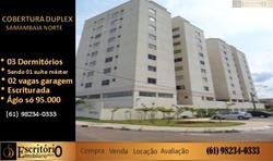 Apartamento à venda QS 601 CONJUNTO I ÁGIO,  SÓ 95 MIL LINDA COBERTURA DUPLEX, COM 02 VAGAS