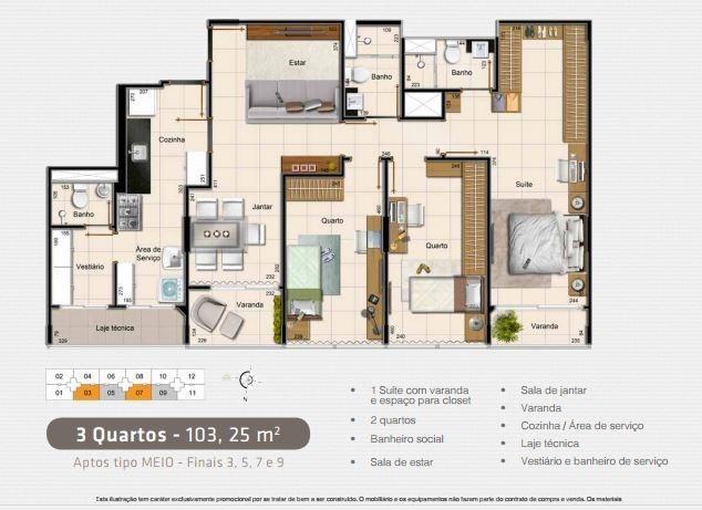 Planta Baixa 103,25 m² 32/32